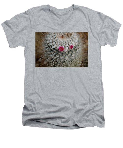 Mammillaria Geminispina Men's V-Neck T-Shirt