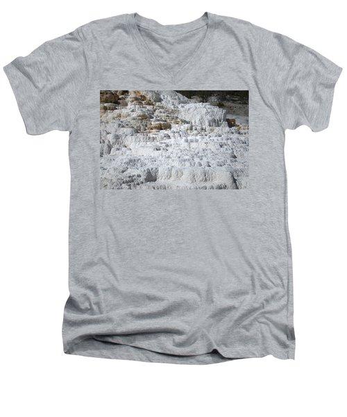 Mammoth Hotsprings 3 Men's V-Neck T-Shirt