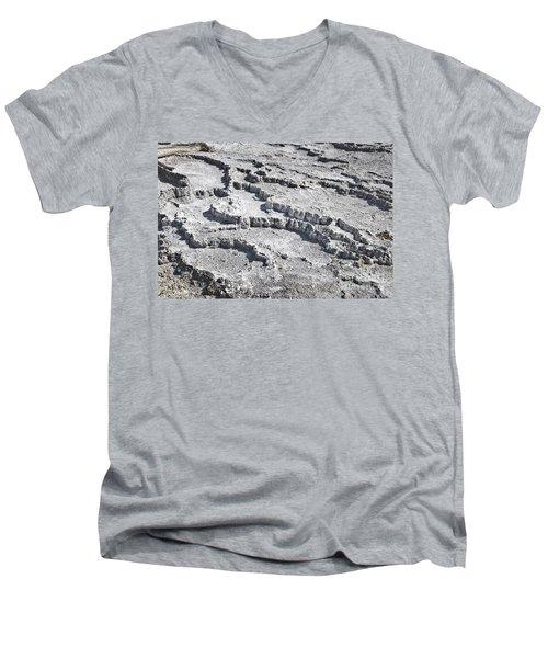 Mammoth Terraces Detail Men's V-Neck T-Shirt