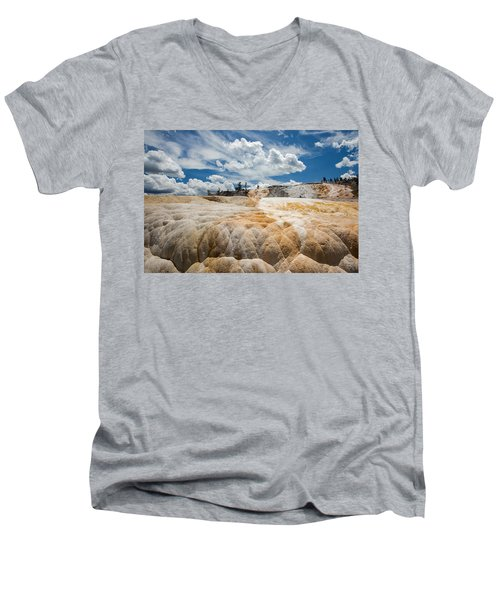 Mammouth Terraces Men's V-Neck T-Shirt by Jack Bell