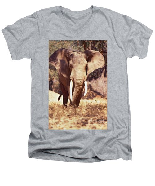Mana Pools Elephant Men's V-Neck T-Shirt