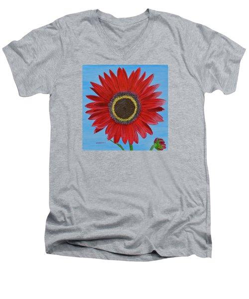 Mandy's Burgundy Beauty Men's V-Neck T-Shirt