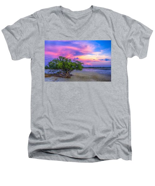Mangrove By The Bay Men's V-Neck T-Shirt by Marvin Spates