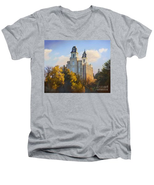 Manti Temple Men's V-Neck T-Shirt