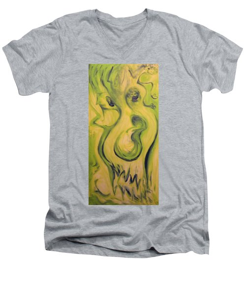 Many Faces Men's V-Neck T-Shirt by Mark Minier