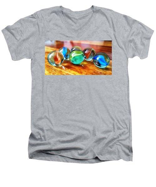 Marble Ducks Men's V-Neck T-Shirt