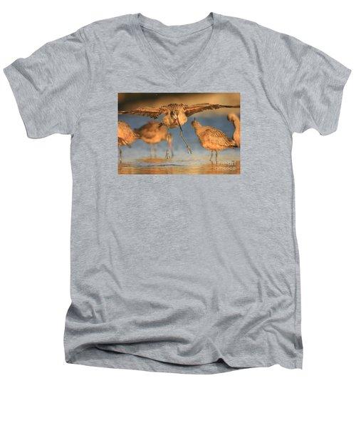 Marbled Godwit  Men's V-Neck T-Shirt