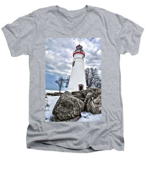 Marblehead Lighthouse Men's V-Neck T-Shirt