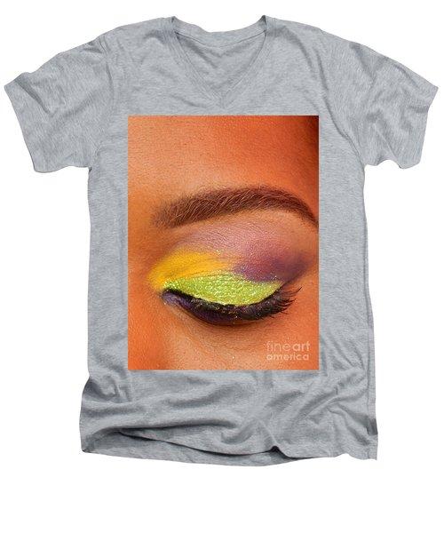 Mardi Gras 2014 Eye See Colors Of Mardi Gras Men's V-Neck T-Shirt
