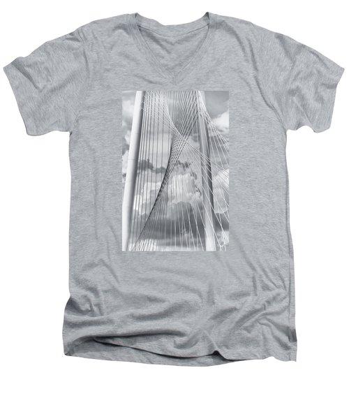 Margaret Hunt Hill Bridge Men's V-Neck T-Shirt by Joan Carroll