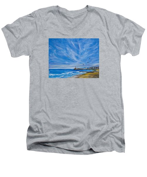 Margate Skies Men's V-Neck T-Shirt