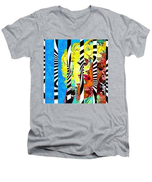 Marilyn 130 B Men's V-Neck T-Shirt