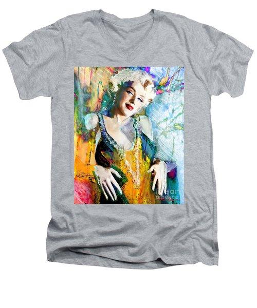 Marilyn Monroe 126 E Men's V-Neck T-Shirt