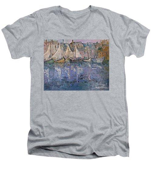 Marina Men's V-Neck T-Shirt by AmaS Art