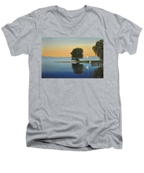 Marina Morning Men's V-Neck T-Shirt