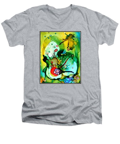 Marine Habitats Men's V-Neck T-Shirt