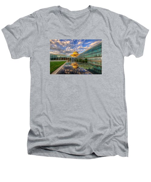 Marjorie Mcneely Conservatory Evening  Men's V-Neck T-Shirt