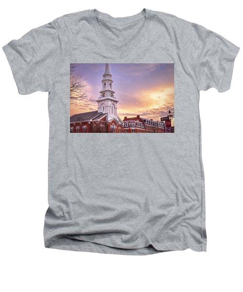 Market Square Rooftops Men's V-Neck T-Shirt
