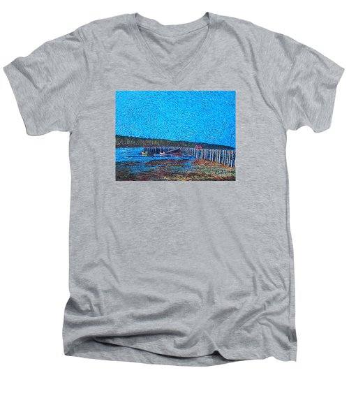 Market Wharf St. Andrews Nb Men's V-Neck T-Shirt