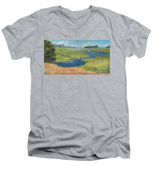Marshes At High Tide Men's V-Neck T-Shirt