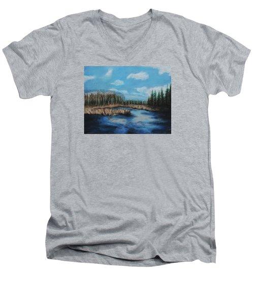 Marshland 1 Men's V-Neck T-Shirt by Jeanne Fischer