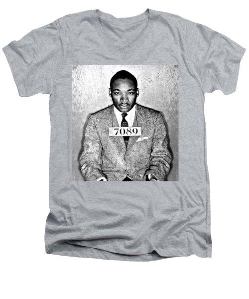 Martin Luther King Mugshot Men's V-Neck T-Shirt