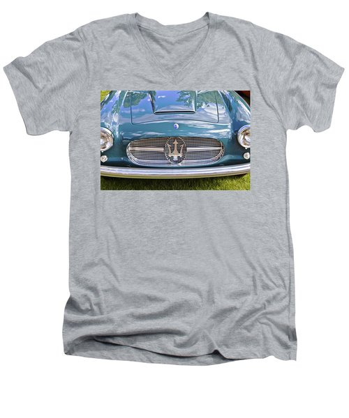 Maserati A6g 54 2000 Zagato Spyder 1955 Men's V-Neck T-Shirt by Maj Seda