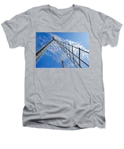 Masted Sky Men's V-Neck T-Shirt by Keith Armstrong