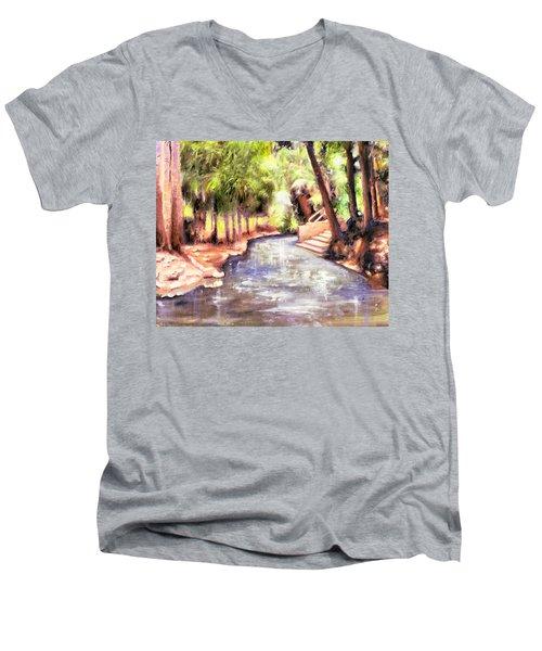 Mataranka Hot Springs Men's V-Neck T-Shirt