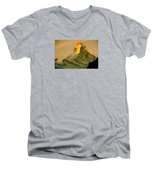 Matterhorn In Switzerland Men's V-Neck T-Shirt