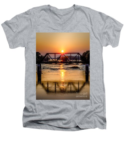 Maumee River At Grand Rapids Ohio Men's V-Neck T-Shirt