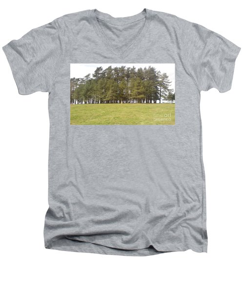 Men's V-Neck T-Shirt featuring the photograph May Hill Tree Tops by John Williams