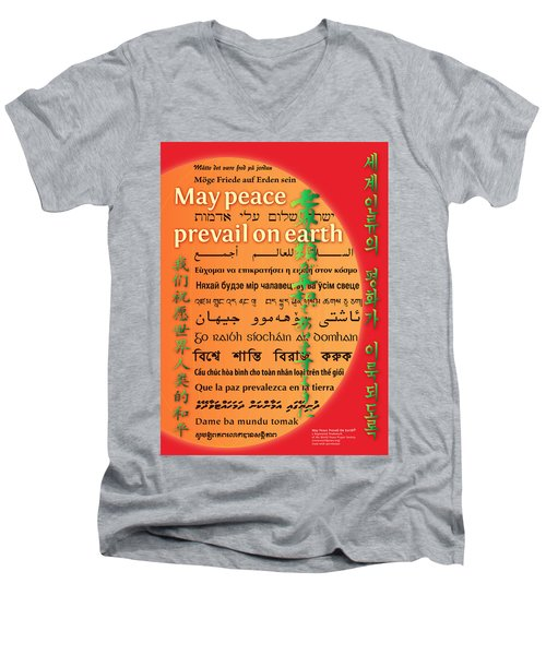 May Peace Prevail On Earth Men's V-Neck T-Shirt