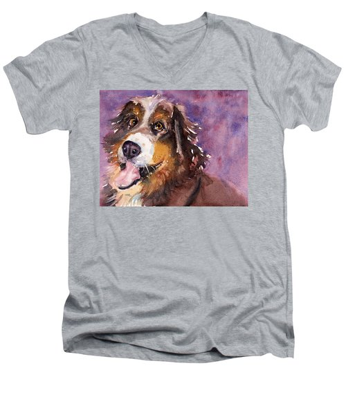 May The Mountain Dog Men's V-Neck T-Shirt