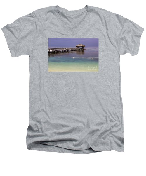Maya Key Pier At Roatan Men's V-Neck T-Shirt