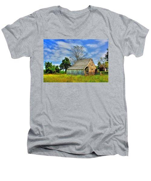 Mclean House Barn 1 Men's V-Neck T-Shirt by Dan Stone