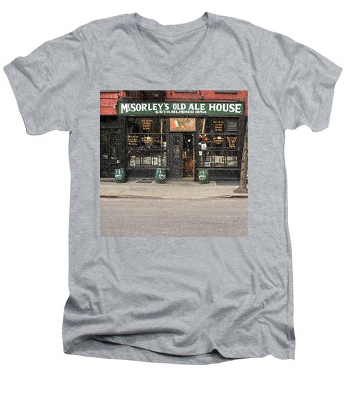 Mcsorley's Old Ale House Men's V-Neck T-Shirt by Doc Braham