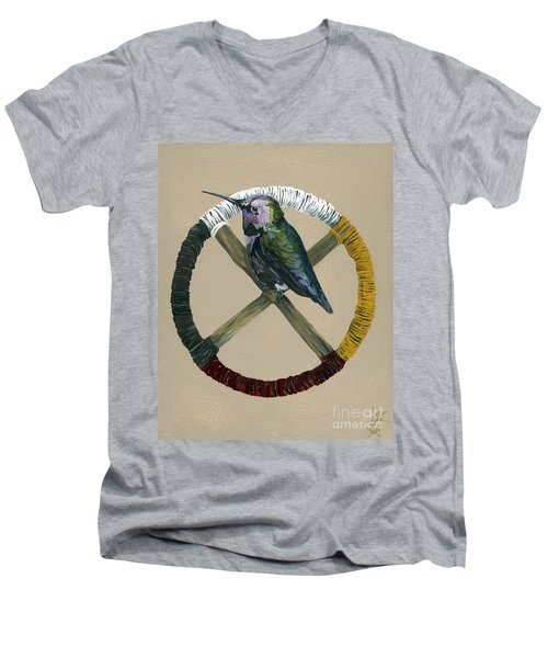 Medicine Wheel Men's V-Neck T-Shirt by J W Baker