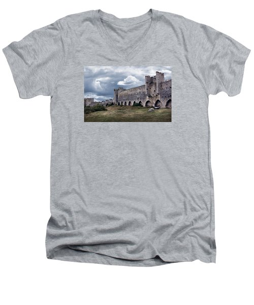 Medieval City Wall Defence Men's V-Neck T-Shirt