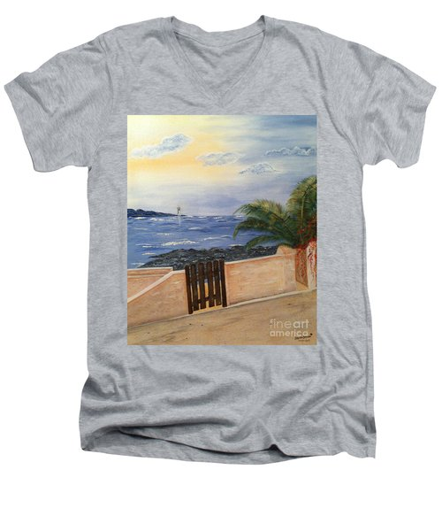Mediterranean Bbmb0001 Men's V-Neck T-Shirt