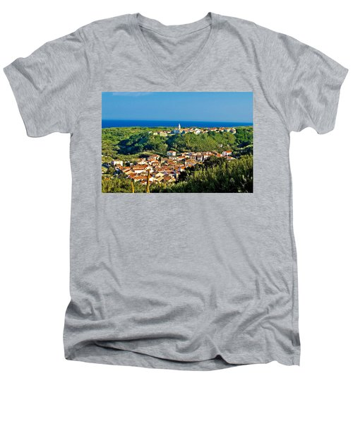 Mediterranean Town Of Susak Croatia Men's V-Neck T-Shirt