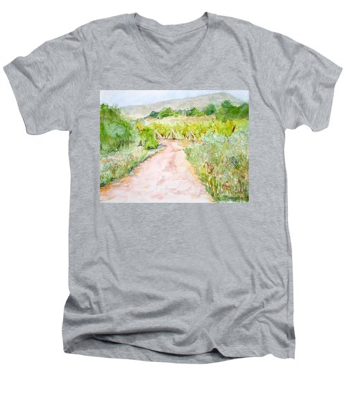 Medjugorje Path To Apparition Hill Men's V-Neck T-Shirt