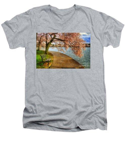 Meet Me At Our Bench Men's V-Neck T-Shirt