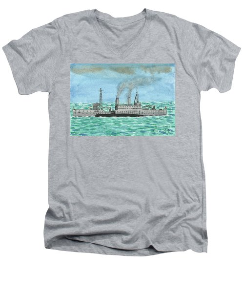 Meeting For Supplies  Men's V-Neck T-Shirt by John Williams
