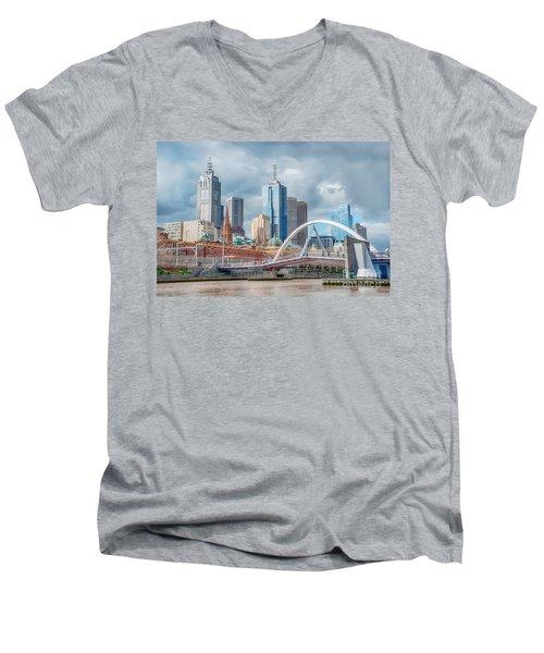 Melbourne Australia Men's V-Neck T-Shirt