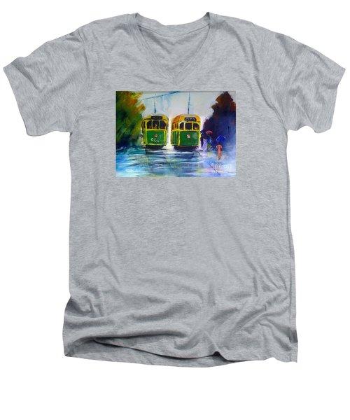 Melbourne Trams Men's V-Neck T-Shirt