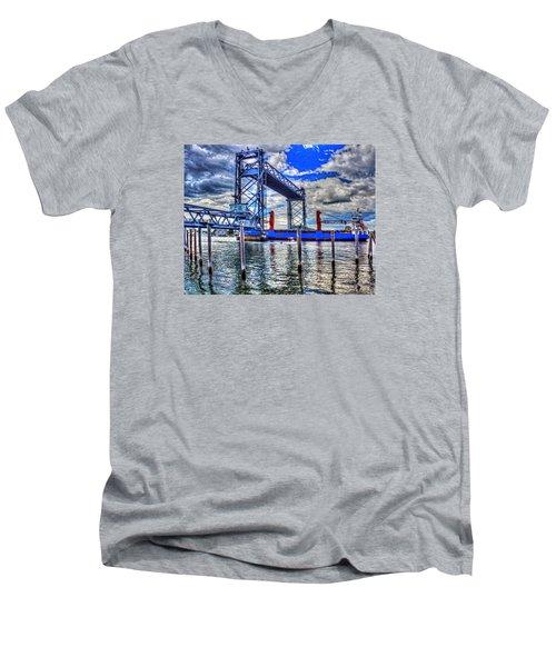 Memorial Bridge 034 Men's V-Neck T-Shirt
