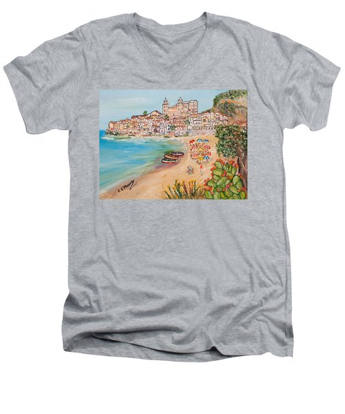 Memorie D'estate Men's V-Neck T-Shirt by Loredana Messina
