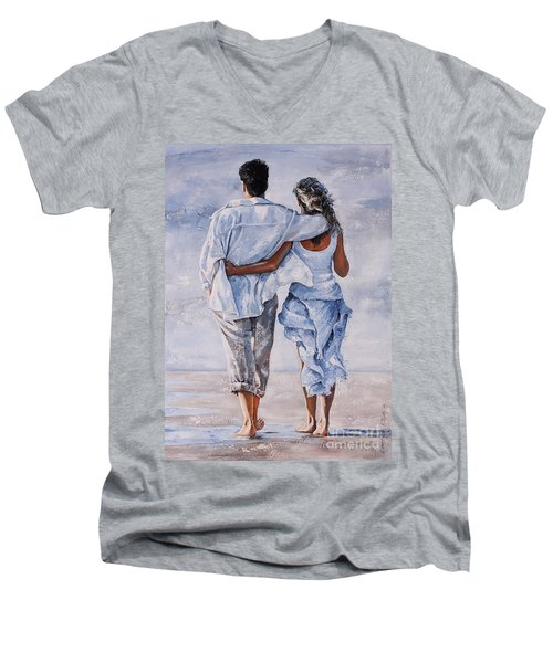 Memories Of Love Men's V-Neck T-Shirt by Emerico Imre Toth
