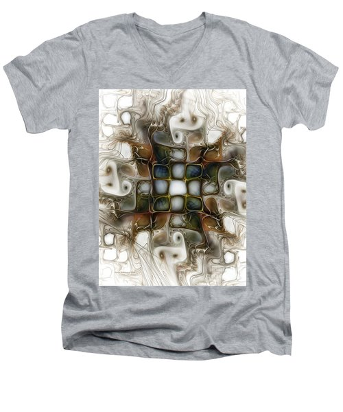 Memory Boxes-fractal Art Men's V-Neck T-Shirt